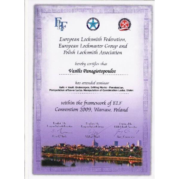 EUROPEAN LOCKSMITH CONVENTION 2009-SAFES