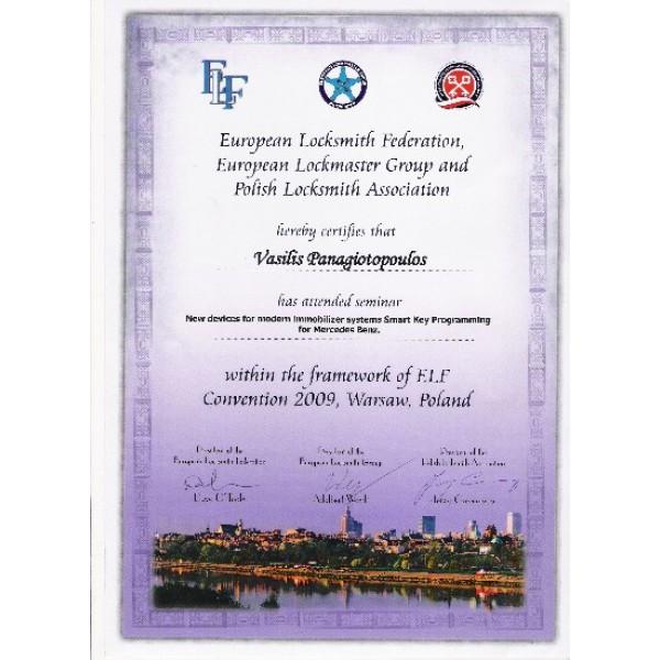 EUROPEAN LOCKSMITH CONVENTION 2009-IMMOBILIZER